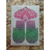 Carte les mains de Bouddha