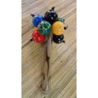 Maracas déca 5 couleurs bambou