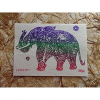 Carte éléphant we are the world