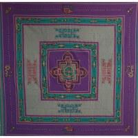 Tenture Chitwan violet double dorje éléphant