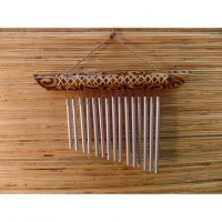 Carillon bambou et osier Eole