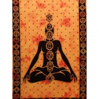 Tenture orange 7 chakras