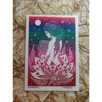 Carte déesse lotus