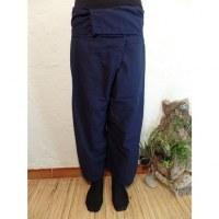 Pantalon de pêcheur Thaï bleu foncé