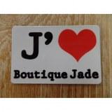 Aimant j'aime boutique Jade