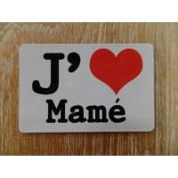 Aimant j'aime Mamé