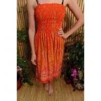 Jupe/robe orange vif