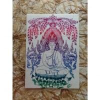 Carte la méditation de bouddha