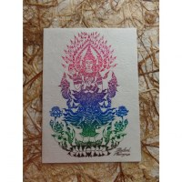 Carte bouddha debout