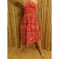 Jupe/robe rouge éléphants