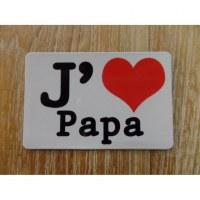 Aimant j'aime papa