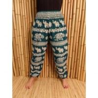 Pantalon vert Pejburi éléphants