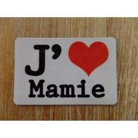 Aimant j'aime Mamie