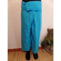 Pantalon de pêcheur Thaï azur