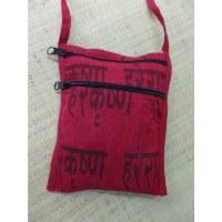 Sac passeport rouge sanscrit