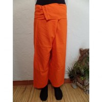 Pantalon de pêcheur Thaï agrume orange