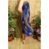 Sarouel bleu plume