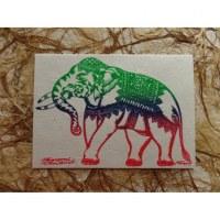 Carte éléphant paradant
