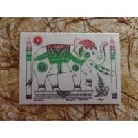 Carte éléphant à la parade