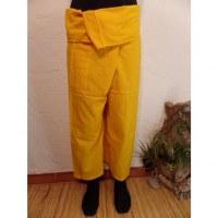 Pantalon de pêcheur Thaï agrume jaune