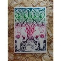 Carte éléphant la famille éléphant