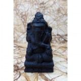 Porte encens en pierre reconstituée Ganesh noir