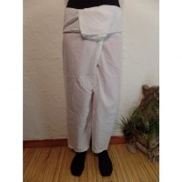 Pantalon de pêcheur Thaï blanc