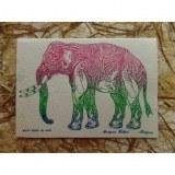 Carte éléphant stop distroy the world