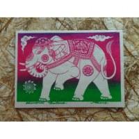 Carte éléphant en route