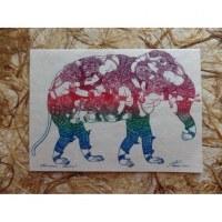 Carte éléphant Kali