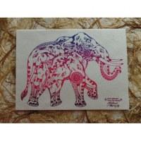 Carte éléphant save éléphant save the nature