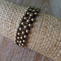 Tour de poignet lilin mini perles claires