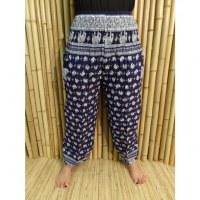Pantalon éléphants thaï bleu foncé