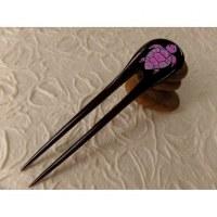Pic à cheveux tortue violette