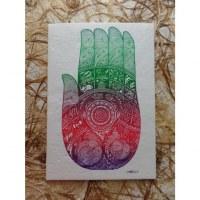 Carte la main de Bouddha