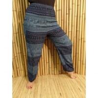 Pantalon bleu Petchburi éléphants noirs
