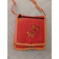 Sac passeport orange salamandres brodées