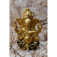 Ganesh doré pantalon noir et or