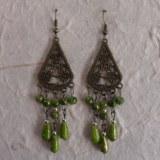 Boucles d'oreilles Boussaba vertes