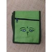 Sac passeport vert Bouddha eyes
