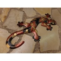 Gecko love cuivré/noir/doré