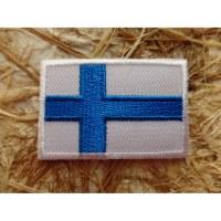 Ecusson drapeau Finlande