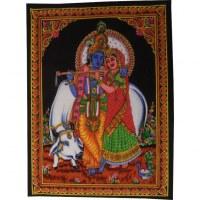 Petite tenture Krishna et Rhada