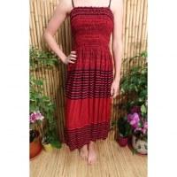 Jupe/robe rouge noir