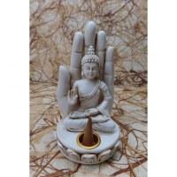 Porte encens blanc Bouddha