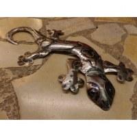 Gecko love gris acier