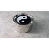 Grinder yin yang métal