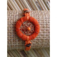 Bracelet orange dreamcatcher