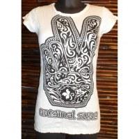 Tee shirt khamsa victorieuse blanc