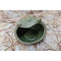 Cendrier grenouille verte